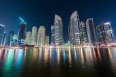 Dubai marina skyscrapers — Stockfoto