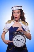 Sailor with clock — Stockfoto