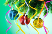 モミの木のクリスマスの装飾 — ストック写真
