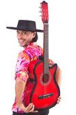 ギターで身に着けているソンブレロを男します。 — ストック写真