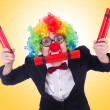 Businessman clown isolated on white — Stock Photo #58247691