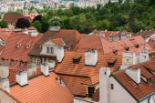 View from top of Prague — Stock Photo