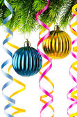Kerstdecoratie geïsoleerd op de witte — Stockfoto