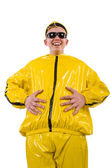 Man in yellow suit — Stockfoto