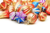 Christmas decorations in festive holiday concept — Stock Photo