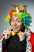 King businessman in funny concept — Stockfoto