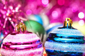 Christmas decorations in festive holiday concept — 图库照片