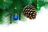 松かさかとクリスマス ツリー — ストック写真