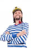 Funny sailor isolated on the white — Stock Photo