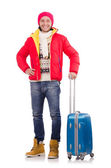 Man preparing for winter vacation — Stock Photo