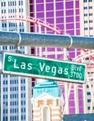 Las Vegas street sign — Stock Photo