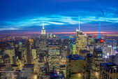 Famous skyscrapers of New York — Stock Photo