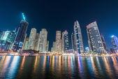 Dubai marina skyscrapers — Stock Photo