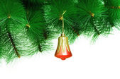 Christmas decoration isolated on the white — Stok fotoğraf
