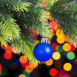 Christmas decoration on the fir tree — Stock Photo #58271185