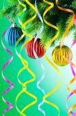 Décoration de Noël sur le sapin — Photo