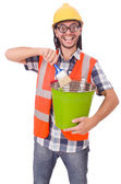 Funny painter isolated on white — Stock Photo