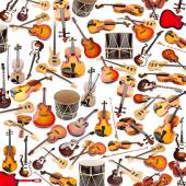 Background made of many musical instruments — Stock Photo