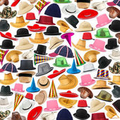 Many hats arranged as background — Stock Photo