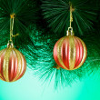 Christmas decoration on the fir tree — Stock Photo #59173623