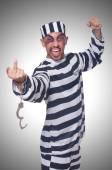 Prisoner with handcuffs — Stock Photo