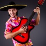 Man playing guitar — Stock Photo #59185945