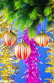 Christmas decoration on the fir tree — Stock Photo