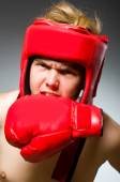 Funny nerd boxer in sport concept — Foto de Stock