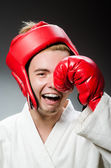 Funny boxer in sport concept — Stock Photo