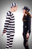 Police and prison inmate — Stock Photo