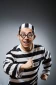Funny prison inmate in glasses — Stock Photo