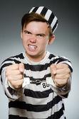 Prison inmate in funny concept — Stock Photo