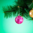 Christmas decoration on the fir tree — Stock Photo #59674341