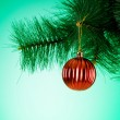 Christmas decoration on the fir tree — Stock Photo #59674419