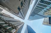 Tall skyscrapers shot with perspective — Stock Photo