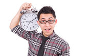 Muž s hodinami — Stock fotografie