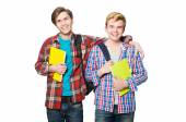 Young students friends — Stock Photo