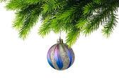 Üzerinde beyaz izole Noel dekorasyon — Stok fotoğraf