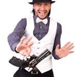 Man with gun — Stock Photo #60111247