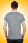 Male t-shirt isolated on the white background — Stock Photo
