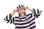 Prison inmate isolated on the white background — Stock Photo