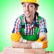 Builder with hard hat — Stock Photo #60138325