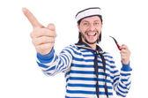 Funny sailor isolated on white — ストック写真