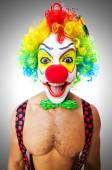 Funny hilarious clown — Stock Photo