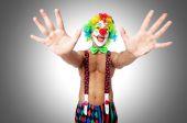 Funny hilarious clown — Stockfoto