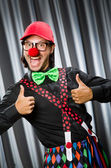 Funny clown in humorous concept — Stock Photo