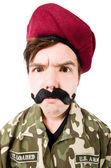 Soldado gracioso en concepto militar — Foto de Stock