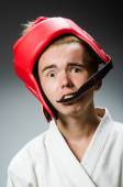 Funny boxer in sport concept — Photo