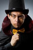 Funny magician man — Stock Photo