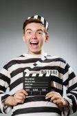 Prison inmate in funny concept — Stock Photo